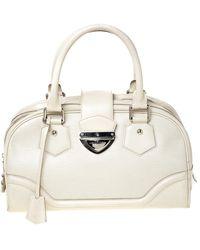Louis Vuitton - Ivorie Epi Leather Bowling Montaigne Gm Bag - Lyst