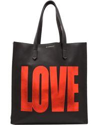Givenchy Black Leather Basic Love Medium Tote