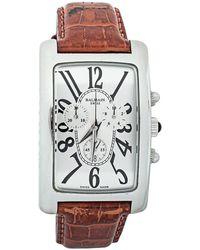 Balmain Pierre Silver Stainless Steel & Leather 5841 Wristwatch 33 Mm - Metallic
