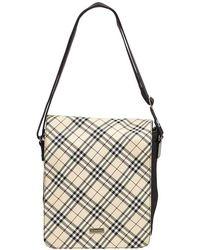 Burberry - Haymarket Check Cotton denim Shoulder Bag - Lyst 7b2fbdf9a67da