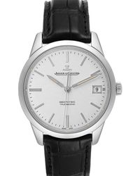 Jaeger-lecoultre Silver Stainless Steel Master 501.8.t0.s Q8018420 Wristwatch 40 Mm - Metallic