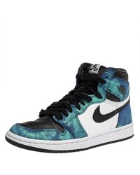 Nike Jordan Multicolour Leather Air Jordan 1 Retro Tie-dye High Top Trainers