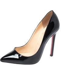 Christian Louboutin So Kate Patent Red Sole Pumps - Black