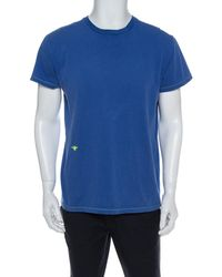 Dior Blue Cotton Crewneck T Shirt