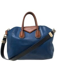 Givenchy Multicolour Leather Antigona Satchel - Blue