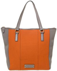 Marc By Marc Jacobs Orange/grey Quilted Neoprene Take Me Tote