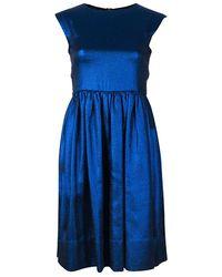 Marc By Marc Jacobs True Blue Metallic Dress