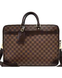 Louis Vuitton Damier Ebene Canvas Porte Documents Voyage Gm Briefcase - Brown