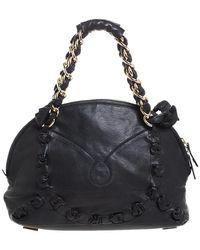 Gianfranco Ferré Black Leather Satchel