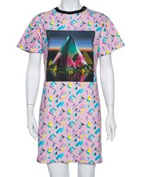 Louis Vuitton Pink Printed Cotton Sweatshirt Dress