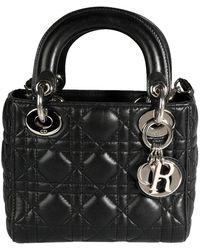 Dior Black Cannage Leather Lady Mini Bag