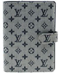 Louis Vuitton Grey Monogram Canvas Small Ring Agenda Cover - Gray