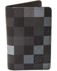 Louis Vuitton Damier Cobalt Canvas Pocket Organizer - Black