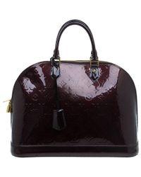Louis Vuitton Amarante Monogram Vernis Alma Gm Bag - Multicolour