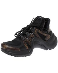 Louis Vuitton Black Monogram Canvas And Mesh Lv Archlight Sneakers