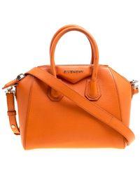 Givenchy - Leather Mini Antigona Satchel - Lyst