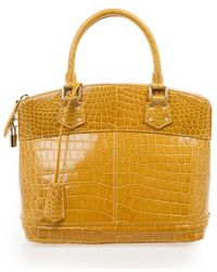 Louis Vuitton Crocodile Lockit Pm Bag - Yellow