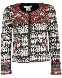 Isabel Marant For H&m Embellished Tie Dyed Quilted Cropped Jacket - Metallic