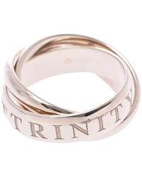 Cartier Or Amour Et Trinity 18k White Gold Rolling Ring Size 51 - Multicolour