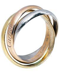 Cartier Trinity De 18k Three Tone Gold Ring - Metallic