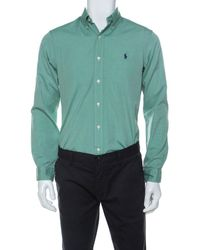 Ralph Lauren Green Cotton Buttoned Shirt