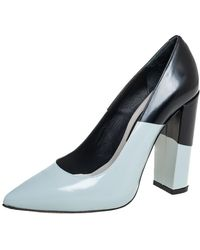 Golden Goose Deluxe Brand Blue/black Leather Becky Pumps