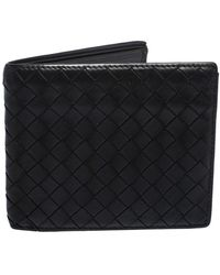 Bottega Veneta Dark Brown Intrecciato Leather Bifold Wallet