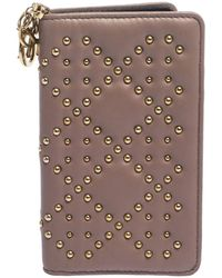 Dior Old Rose Studded Leather Lady Iphone 7 Cover Case - Pink