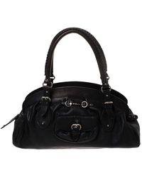 Dior Black Leather Large My Frame Satchel