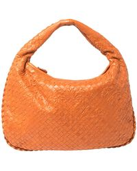 Bottega Veneta Orange Clementine Intrecciato Leather Limited Edition Medium Veneta Hobo