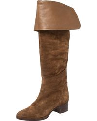 Chloé Brown Suede Over The Knee Boots