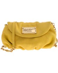 Marc By Marc Jacobs Yellow Leather Classic Q Karlie Crossbody Bag