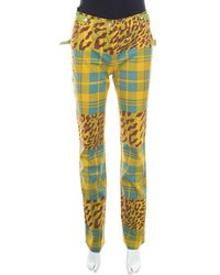 Dior Multicolour Printed Embellished Belt Jeans S - Yellow