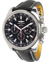 Breitling Black Stainless Steel Bentley Barnato A2536824/bb11 Wristwatch