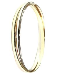 Cartier Trinity De 18k Three Tone Gold Rolling Bangle Bracelet - Metallic