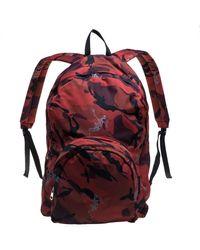 Alexander McQueen Red Camo Nylon Dancing Skeleton Backpack