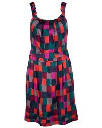 Marc By Marc Jacobs - Printed Cotton Tumbling Blocks Dress S - Lyst