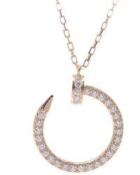 Cartier Juste Un Clou 18k Yellow Gold And Diamonds Necklace - Metallic