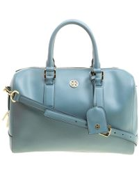 d642c1ce88c8 Tory Burch Satchel - Robinson Pebbled Mini Middy in Natural - Lyst