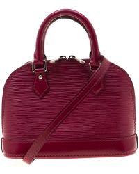 Louis Vuitton Fuchsia Epi Leather Alma Nano Bag - Multicolour