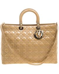 Dior - Pre-owned Issimo Beige Leather Handbags - Lyst