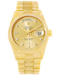 Rolex - Champagne 18k Yellow President Day-date Men's Wristwatch 36mm - Lyst