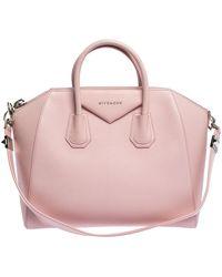 Givenchy Pink Leather Medium Antigona Satchel