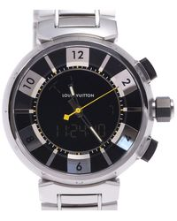 Louis Vuitton Black Stainless Steel Tambour Q118f Wristwatch