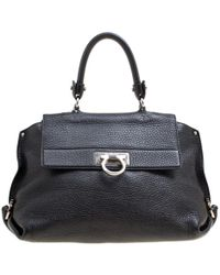 Ferragamo Sofia Black Leather Handbag