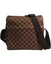 Louis Vuitton Damier Ebene Canvas Naviglio Messenger Bag - Brown