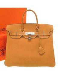 Hermès Brown Fjord Leather Birkin Hac Bag