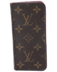 Louis Vuitton Monogram Canvas Iphone X Folio - Brown