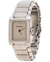 Montblanc White Stainless Steel Profile 7047 Wristwatch 23 Mm - Metallic