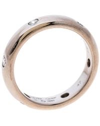 Cartier Stella Diamond & 18k White Gold Wedding Band Ring Size 47 - Metallic